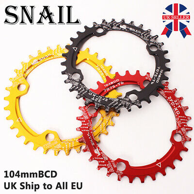 SNAIL 30-52t 104bcd Chainring MTB Bike Crankset Crank Fit Shimano SRAM Chainset • 13.48£