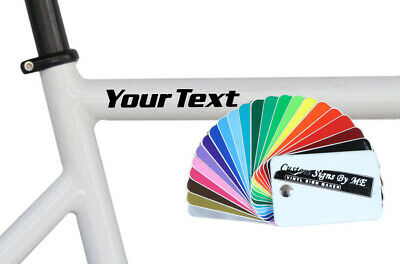 2x Personalised Bike BMX Scooter Frame Stickers Vinyl Decals Adhesive 8 Styles B • 2.88£