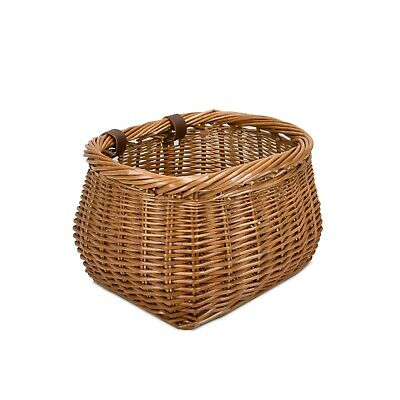 Traditional Wicker Bike Basket Bicycle Cyclist Accessories Shopping Basket • 18.99£