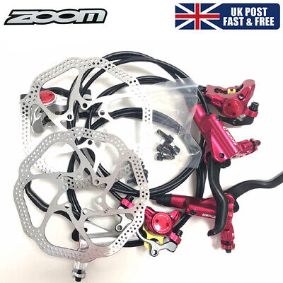 ZOOM MTB Bike Hydraulic Disc Brakes Calipers Cycling 160/180mm Disc Brake Rotor • 28.48£
