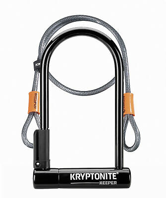 Kryptonite Bike Lock Keeper 12 Standard With 4' Flex Cable Silver Sold Secure • 30.99£