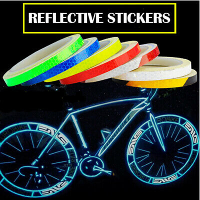 2x Reflective Tape Reflective Stickers Hi Vis Viz Safety Warning Reflector Tape • 2.35£