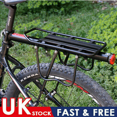 50kg Max Alloy Rear Bicycle Pannier Rack Carrier Bag Luggage Cycle Mountain Bike • 12.79£