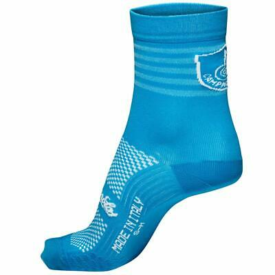 NEW Campagnolo Litech Summer Road Cycling Socks - Bright Blue - Made In Italy • 7.49£