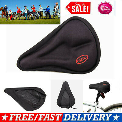 Bike Bicycle 3D Mountain Gel Silicone Saddle Seat Cover Pad Padded Soft Cushion • 3.88£