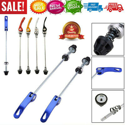 Pair Bicycle Bike Cycling Wheel Hub Skewers Bolt Quick Release Lever Axle Tools • 3.99£