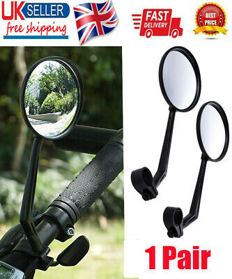 1 Pair Cycling Bike Bicycle Handlebar Flexible Safe Rear View Rearview  UK  • 3.99£