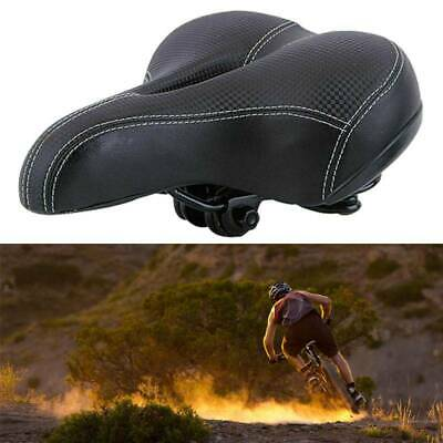 Universal Comfy Cushioned Bicycle Bike Seat Gel Saddle Pad Wide Outdoor Black • 16.99£