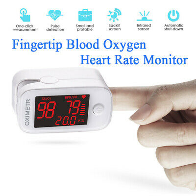 Pulse Oxi-Meter Fingertip Blood Oxygen Saturation Heart Rate Monitor Recorder • 29.95£