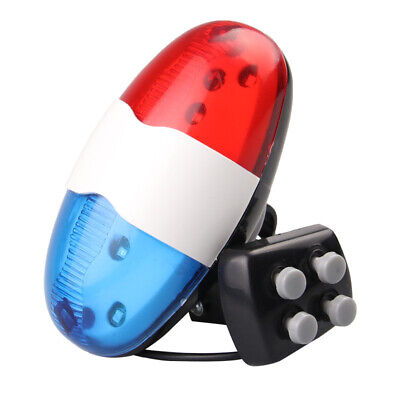 Bicycle 4 Tone Sounds Bell Police Car Light Electronic Horn Siren For Kid's Bike • 4.80£