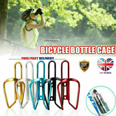 Aluminum Alloy Water Bottle Holder Sports Bike Bicycle Cycling Drink  Rack Cages • 4.59£