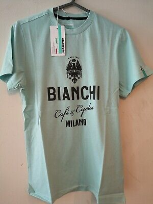 Bianchi Cafe And Cycles T Shirt S • 18.99£