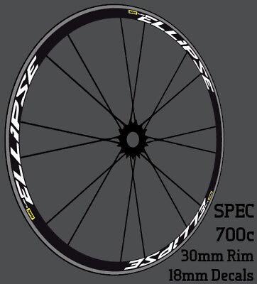 ELLIPSE Wheel Decals Stickers For 700C 30mm Road Bicycle Bike Wheels Pegatinas • 12£