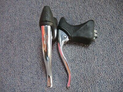 RETRO SHIMANO SLR ALLOY AERO BRAKE LEVERS + GOOD HOODS - 1990s - BRIGHT POLISHED • 35£