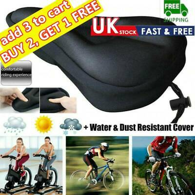 Soft Comfort Gel Pads Mountain Bike Comfy Cushion Saddle Seat Cover Bicycle A+ • 6.06£