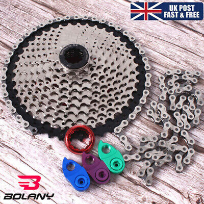 UK KMC MTB Bike 11-40/42/46/50T Cassette Chain 8/9/10/11Speed Cassettes Sprocket • 46.38£