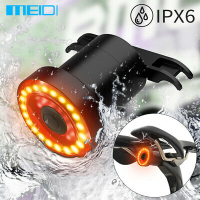 MEIDI XLite100 Waterproof Bicycle LED USB Tail Light Smart Brake Light Sense • 13.99£
