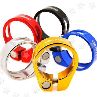 5 Colors Seat Clamp Aluminum Alloy 31.8-34.9mm For Cycle Bike Road Cycling • 5.16£