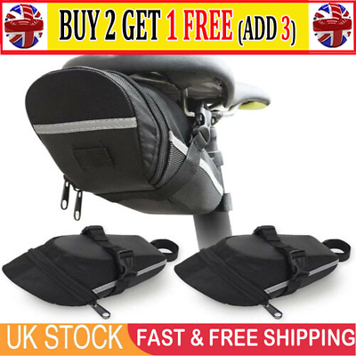 Bicycle Waterproof Storage Saddle Bag Bike Seat Cycling Rear Pouch Outdoor UK AT • 5.59£