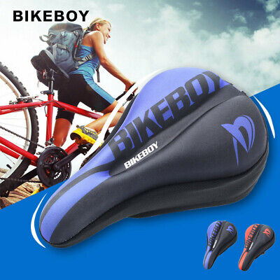 Mountain Bike Comfort Soft Gel Pad Cushion Saddle Seat Cover Bicycle Cycle • 8.69£