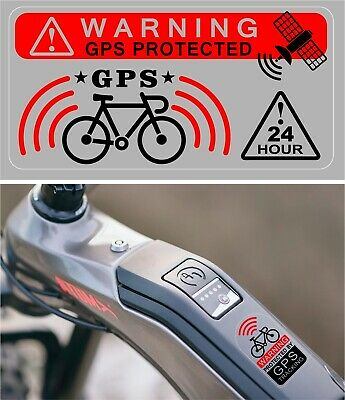 3 X GPS Protected Tracking Warning Sticker  Bike Theft Prevention TRANSPARENT+ • 2.89£