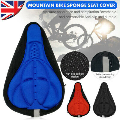 Bike Seat Cushion EXTRA Comfort Soft Saddle Seat Cover For Cycling Gel Fabric • 2.99£