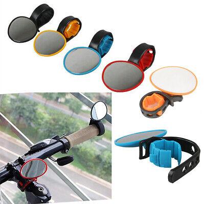 360° Bike Bicycle Mobility Handlebar Mirror Reflectors Cycle Mirrors Glass • 3.95£