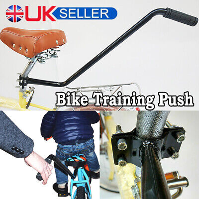 Kids Children Bike Leaning Push Handle Bicycle Control Grip Parent Safety Pole • 10.99£