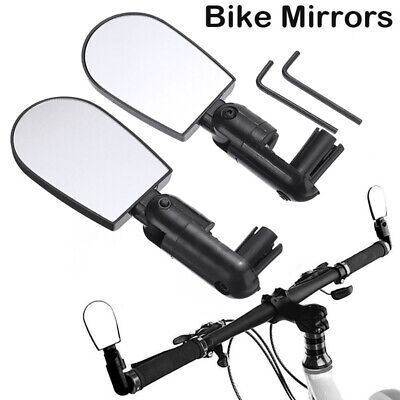 2x Bicycle Cycle Handlebar Convex Mirror 3D Mountain Road Bike Rear View UK • 4.39£