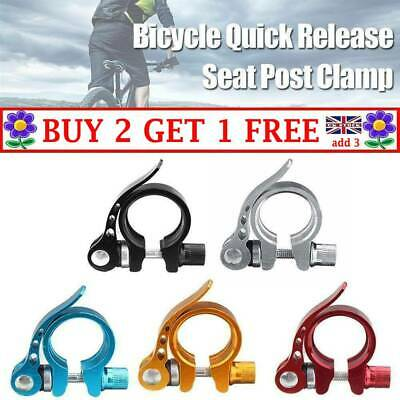 Bike Bicycle Quick Release Seat Post Clamp BMX MTB Anodised Alloy 34.9mm JD • 3.99£