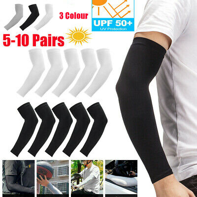 5/10 Pairs Cooling Arm Sleeves Cover Basketball Golf Sport UV Sun Protection Men • 5.99£