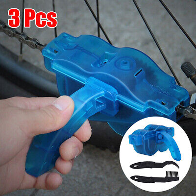 Bicycle Bike Chain Cleaner Bike Maintenance Wash Tool Cleaning Brushes Degreaser • 5.89£