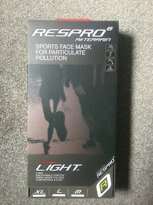 Respro Ultralight Face Mask With Valves - NEW  - Size S  • 55£