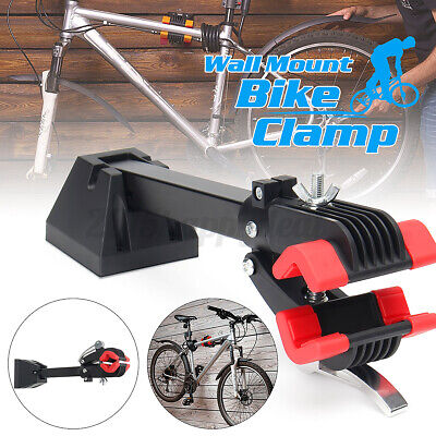 Rack Bike Repair Stand Maintenance Adjustment Clamp Foldable Wall Mount 30kg UK • 22.79£