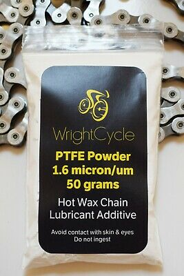 PTFE Teflon Powder 50g Virgin 1.6 Micron Bicycle Paraffin Wax Chain Lubricant • 14.95£