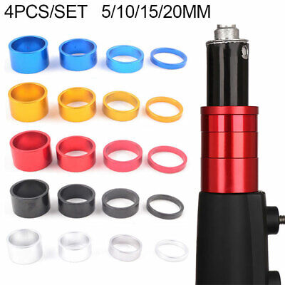 4pcs/set Bike Headset Spacer Road Cycling Headset Washers Front Stem Fork Spacer • 4.75£