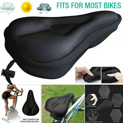 Bike Bicycle Cycle Extra Comfort Gel Pad Cushion Cover For Caddle Seat Comfy • 3.29£