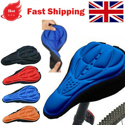3D Gel Silicone Bicycle Saddle Seat Bike Cover Pad Soft And Comfort Cushion • 3.67£