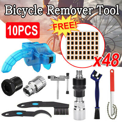 10PCS Mountain Bike Bicycle Removal Repair Tools Set Crank Chain Axis Extractor • 8.99£
