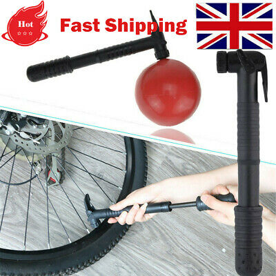 Cycle Pump (SUITS ALL VALVES) Mountain Bike BMX Bicycle T-BAR HANDLE Locks On UK • 5.93£