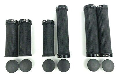 Black Bicycle Handlebar Grips, End Lock, Bar End Plugs Fits 22.2mm Bar • 3.99£