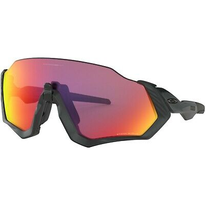 Oakley Flight Jacket Prizm Road Sunglasses ONE SIZE POLISHED BLACK# • 68£