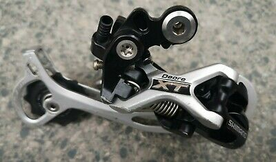 SHIMANO Deore XT RD-M772 9 Speed REAR MECH DERAILLEUR LONG CAGE MTB Used Mega 9 • 0.99£