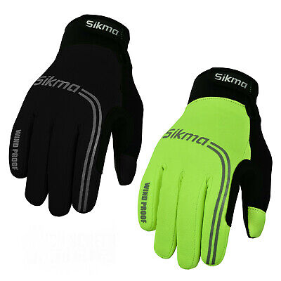 Cycling Gloves Windproof Gel Padded Touchscreen Full Finger Winter Gloves Sikma • 9.99£