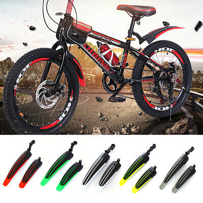 Adjustable Front Rear Mud Guard Mountain Bike Tire Mudguards Bicycle Fender Set • 6.99£