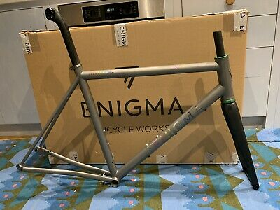 Enigma Excel Titanium Bike Frame And Enve Fork + Seat Post With CK Headset - 57 • 2,000£