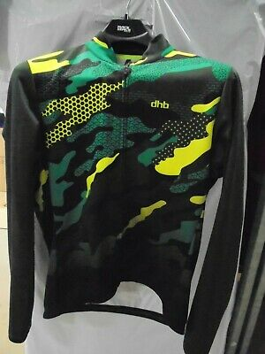 Dhb Blok Long Sleeve Jersey - MULTICAM EXTRA EXTRA LARGE GREEN/YELLOW - • 0.99£