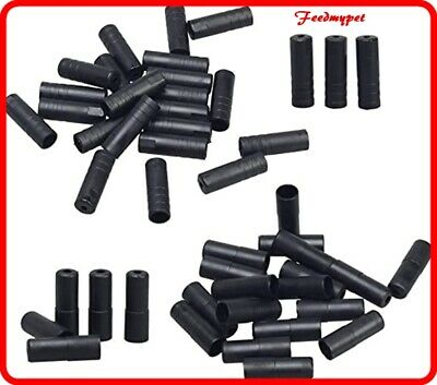 4mm & 5mm Bike Bicycle Cycling Brake Cable End Caps Lined Ferrules ** Black ** • 2.99£