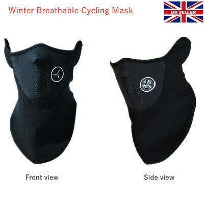 Neck Warmer Winter Thermal Fleece Motorbike Cycling Mask Breathable Unisex Black • 3.58£