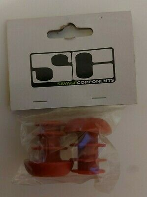 Savage Components BMX Handlebar Bar End Plugs 22mm Various Colours • 5£